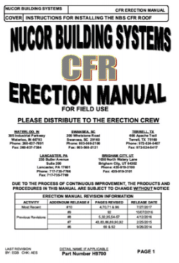 CFR Erection Manual