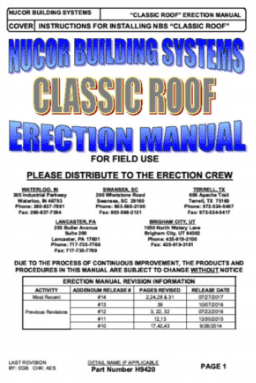 Classic Roof Erection Manual