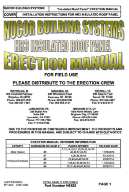 HR3 Insulated Roof Manual