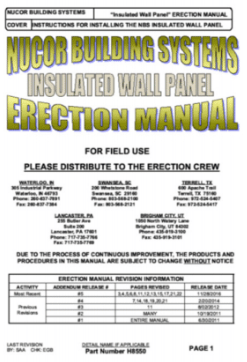 Insulated Wall Panel Manual