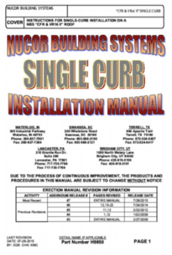 Single Curb Installation Manual