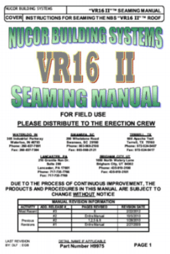 VR16 II Seaming Manual