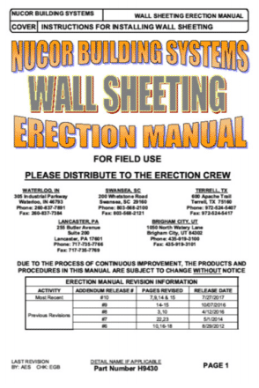 Wall Sheeting Manual