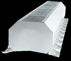 Continuous ridge vent