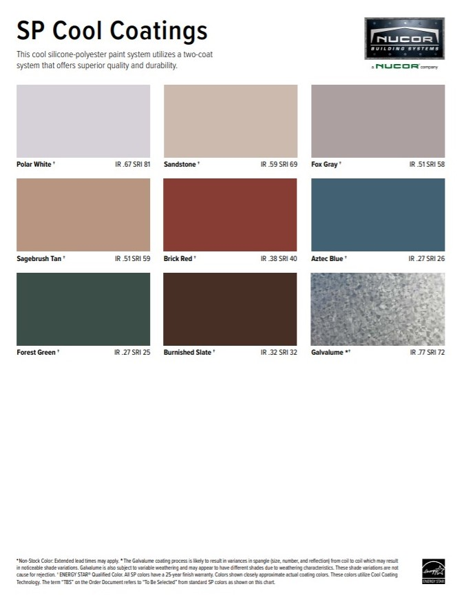 SP Color Chart